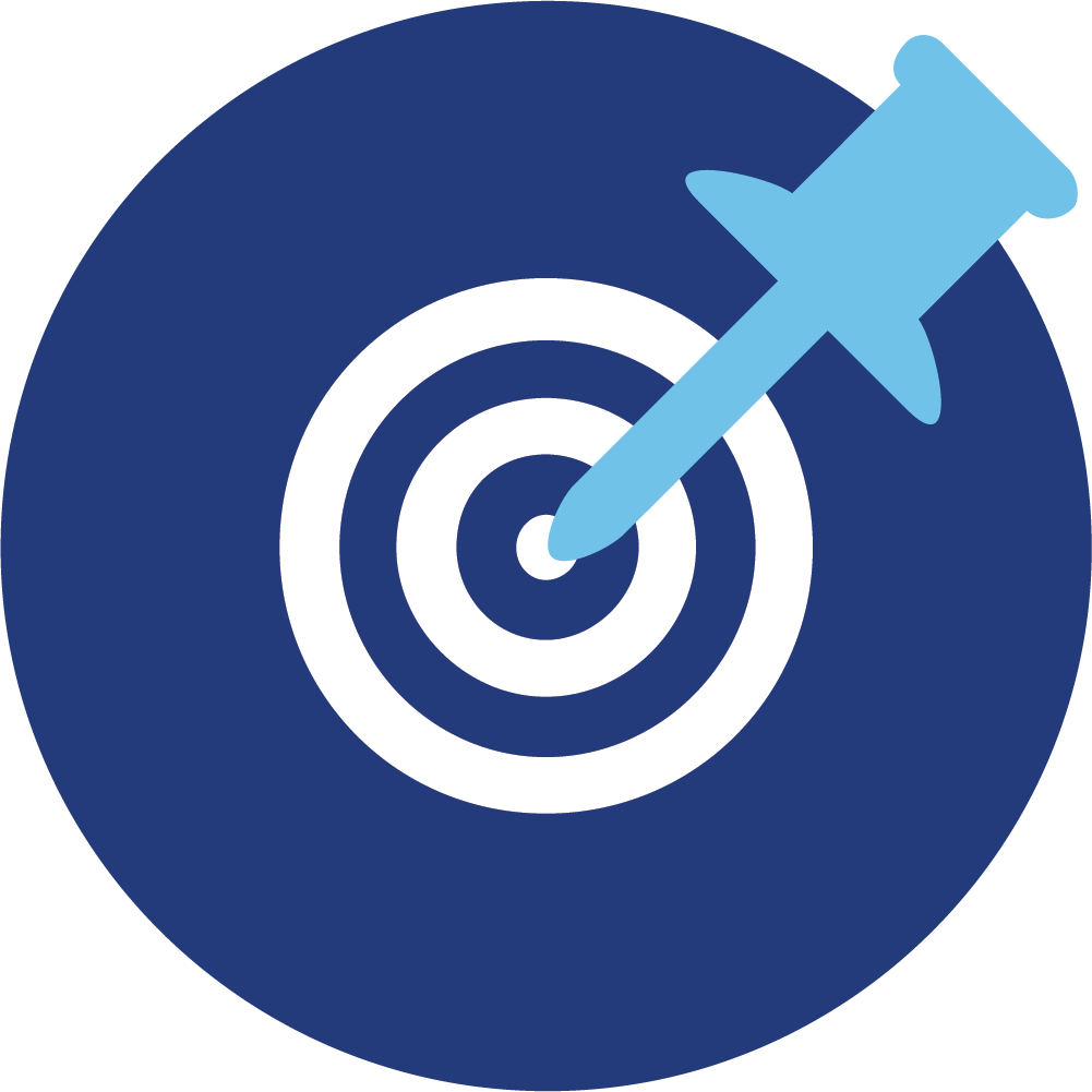 Icon of target and pin